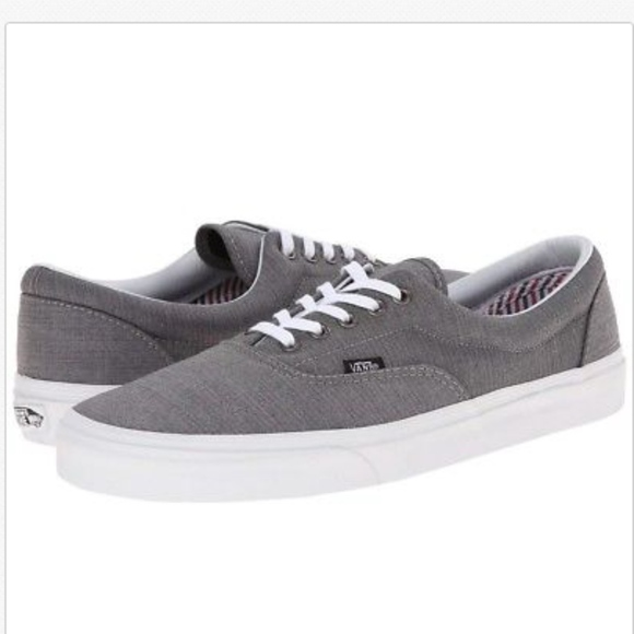 bc13de2471ffe3 Vans Era Suiting Charcoal True White Skate Shoes +